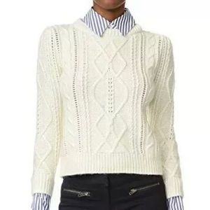 NWT Veronica Beard Surrey Sweater Collar & Cuff